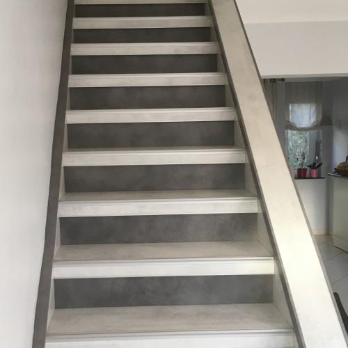 Habillage d'Escalier bicolor