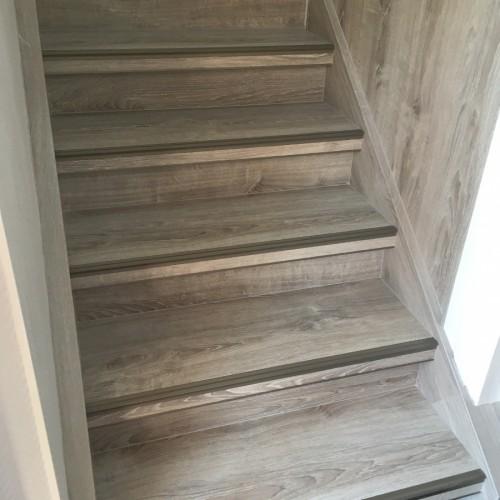 Habillage d'un escalier bois