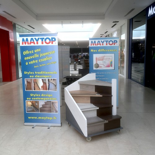 stand expo renovation escalier