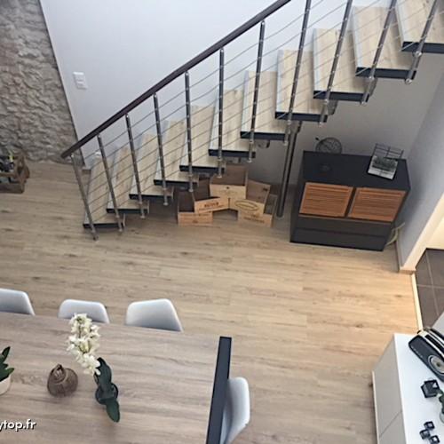 Rénovation escalier métallique