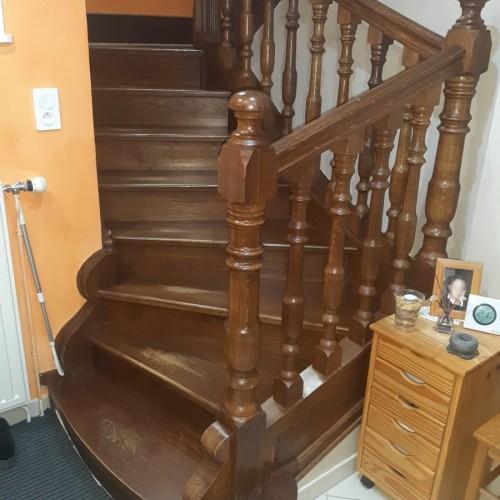 Escalier bois rustique