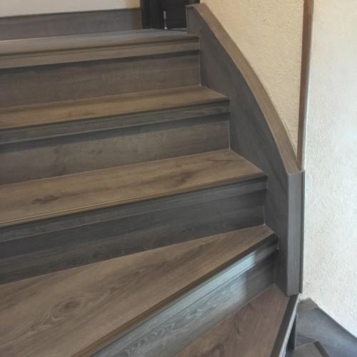 Rénovation d'escalier dans le Jura
