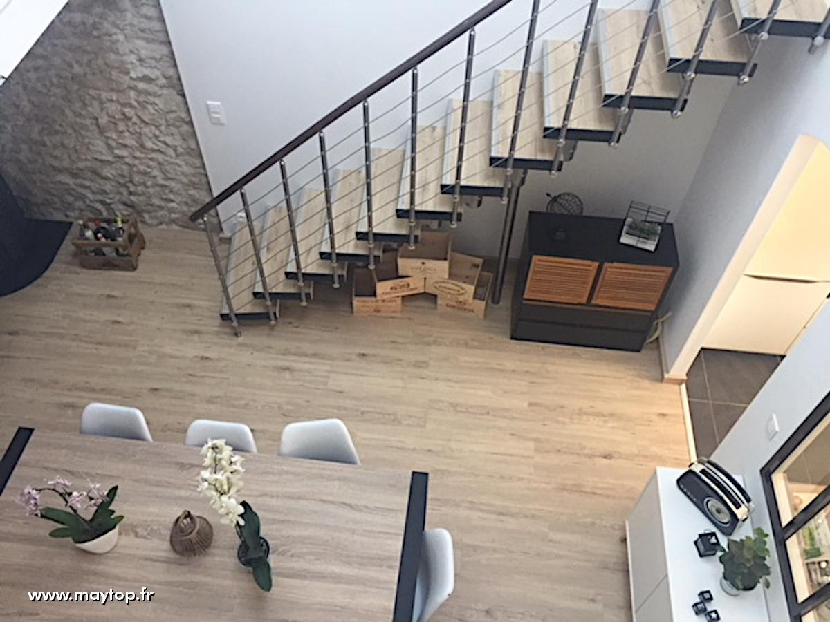 rénovation escalier métal 2