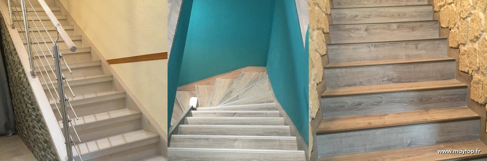 Réalisation rénovation de marches d'escaliers
